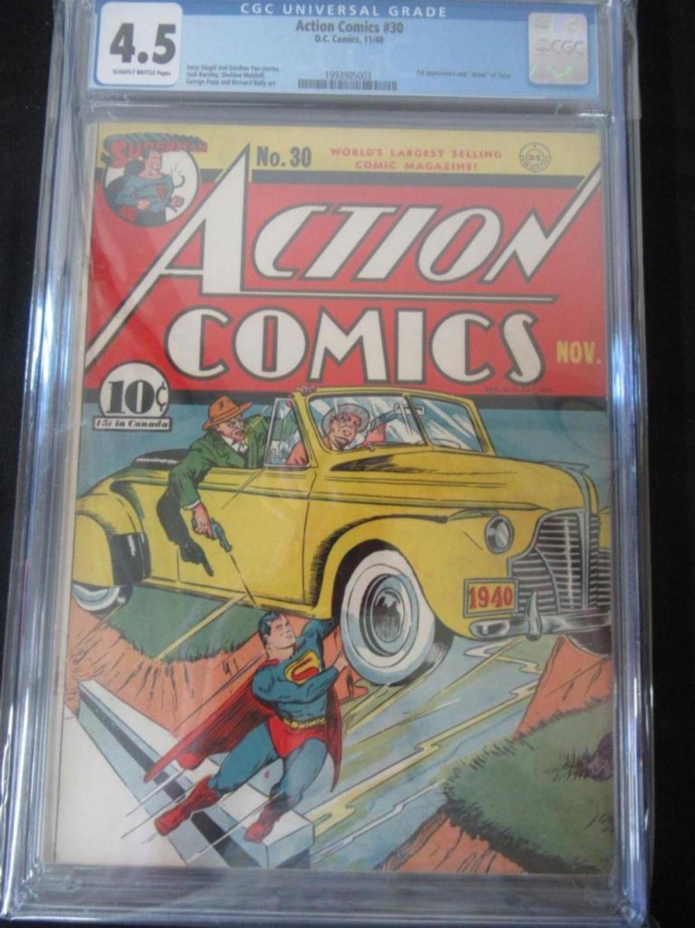 Action Comics #30 CGC 4.5 1st appear & death Zolar
