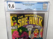 Lot 156: Sensational She-Hulk #4 CGC 9.6 re-intro Blonde