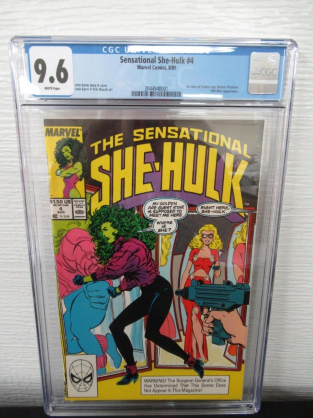Sensational She-Hulk #4 CGC 9.6 re-intro Blonde