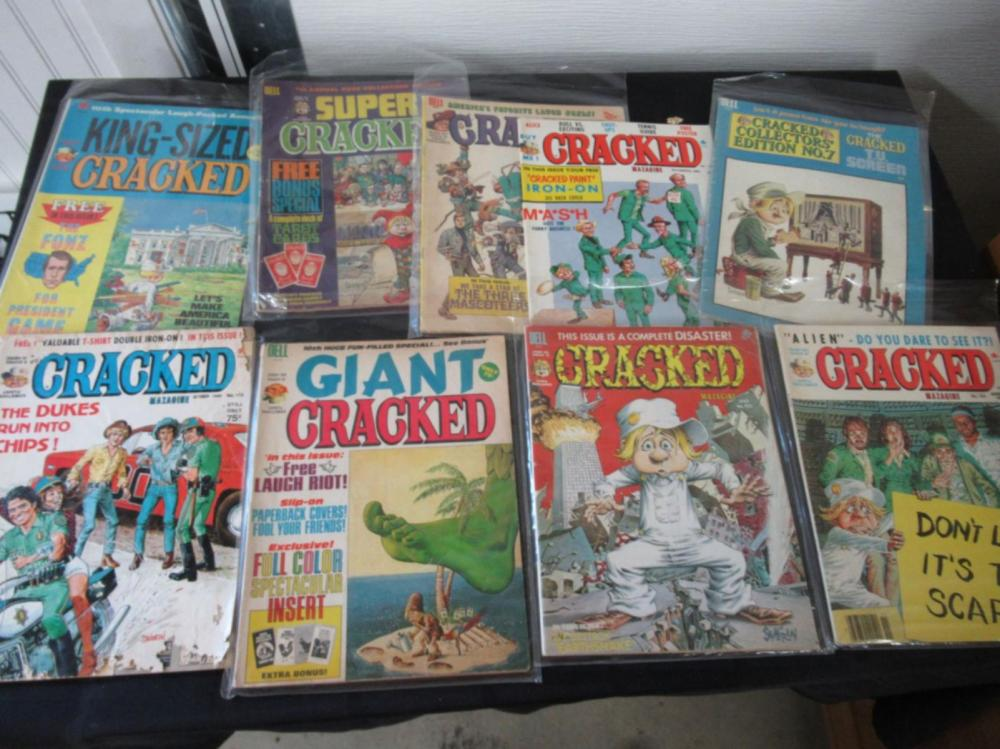 9 Cracked Magazines #64, 125,172, 182, 121