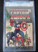 Lot 166: Captain America #100 CGC 8.5 1st , Black Panther