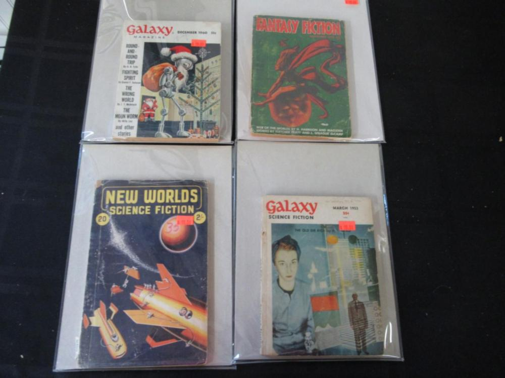 Lot 164: 2 Galaxy, New Worlds, Fantasy Fiction Books