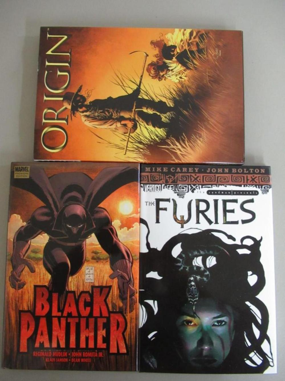 Origin, Black Panther, The Furies Graphic Novels