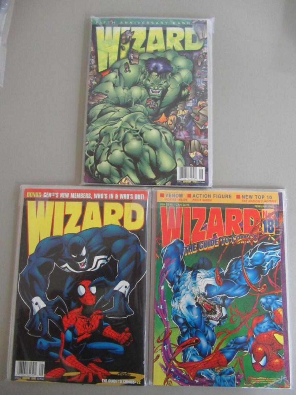 3 Wizard Graphic Novels #18, Aug 1997, Aug 1996