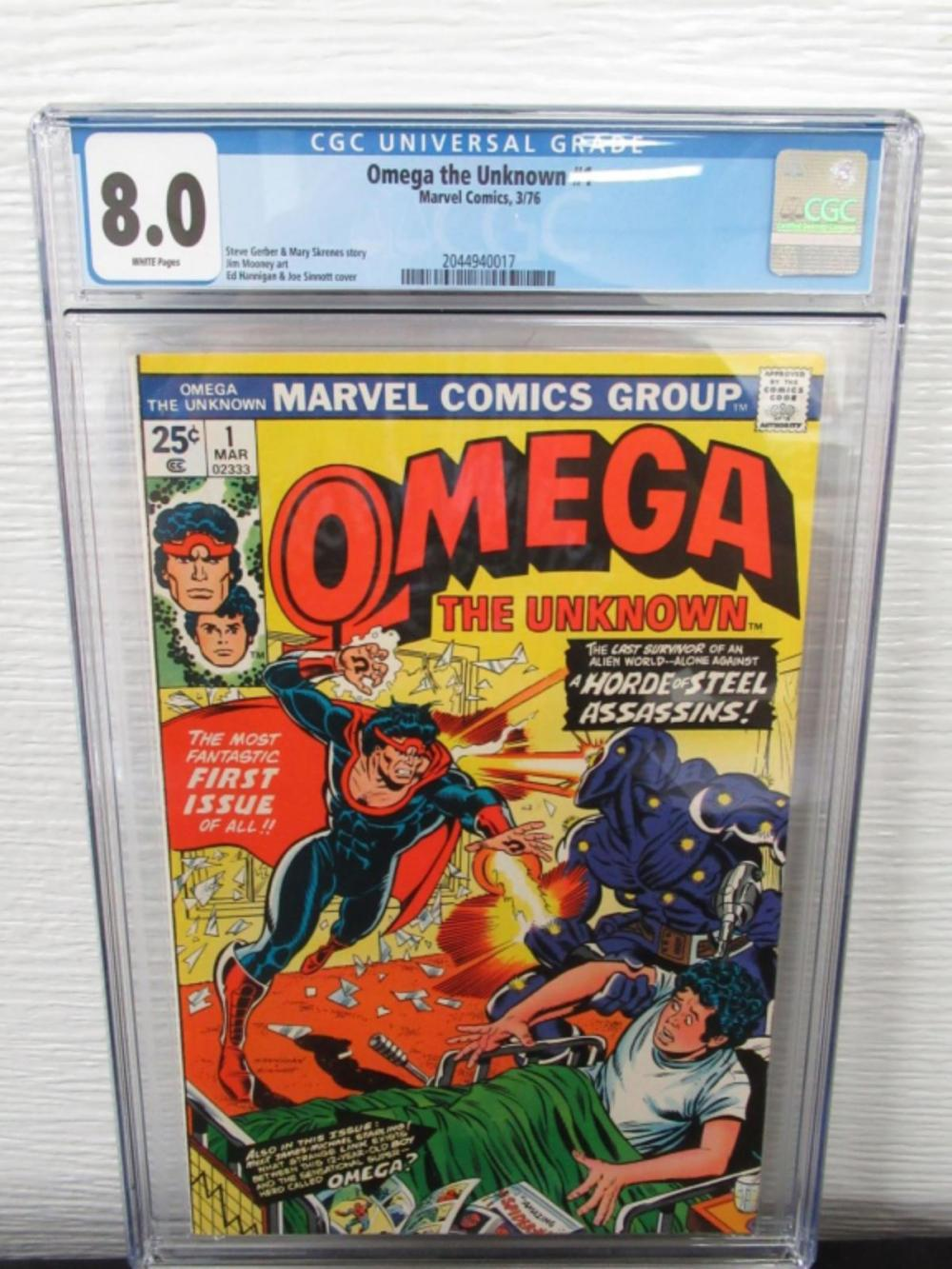 Omega the Unknown #1 CGC 8.0