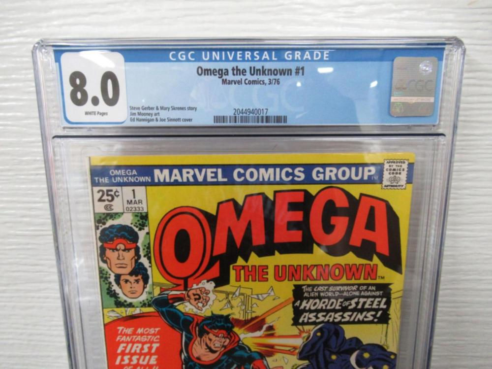 Lot 181: Omega the Unknown #1 CGC 8.0