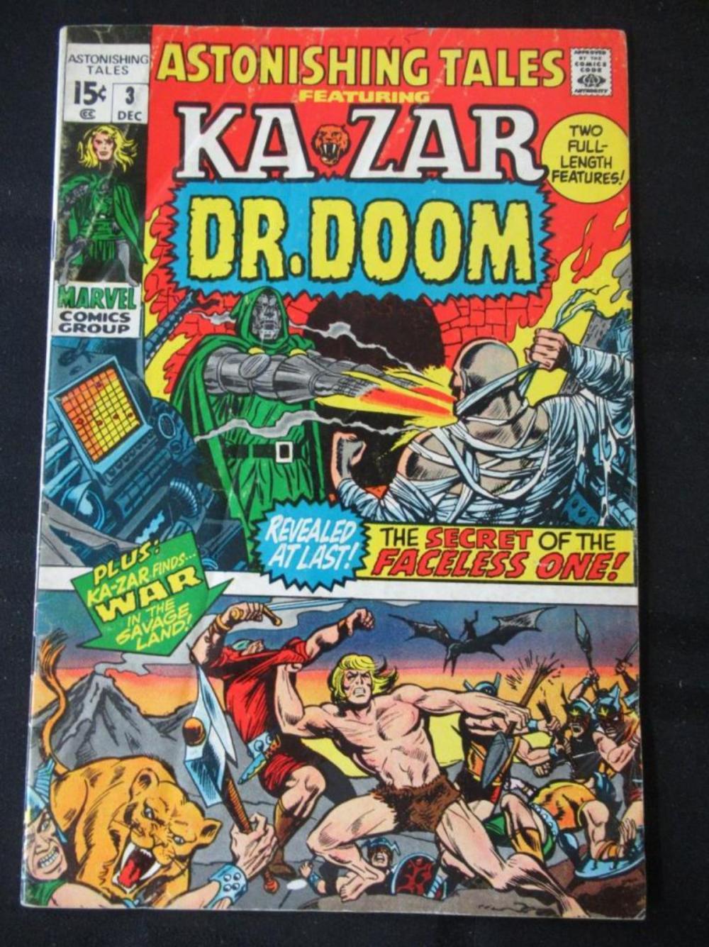 Ka Zar Dr Doom 15c #3 Secret of The Faceless One