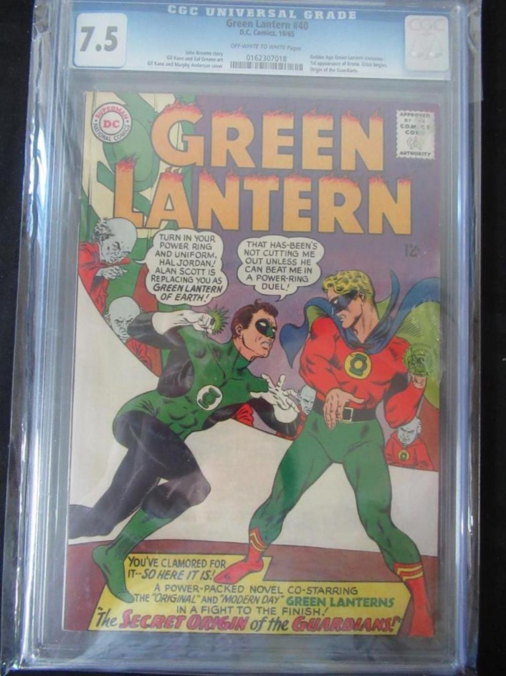 Green Lantern #40 CGC 7.5 Crossover, 1st Krona