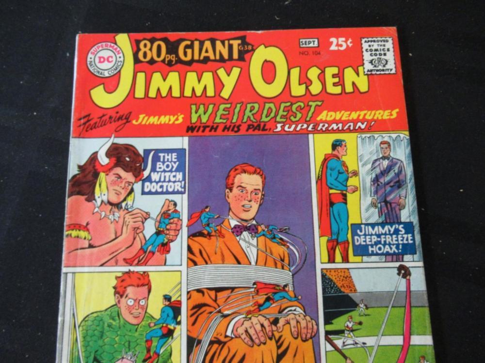 Lot 190: Jimmy Olsen 25c #104 Wierdest Adventures