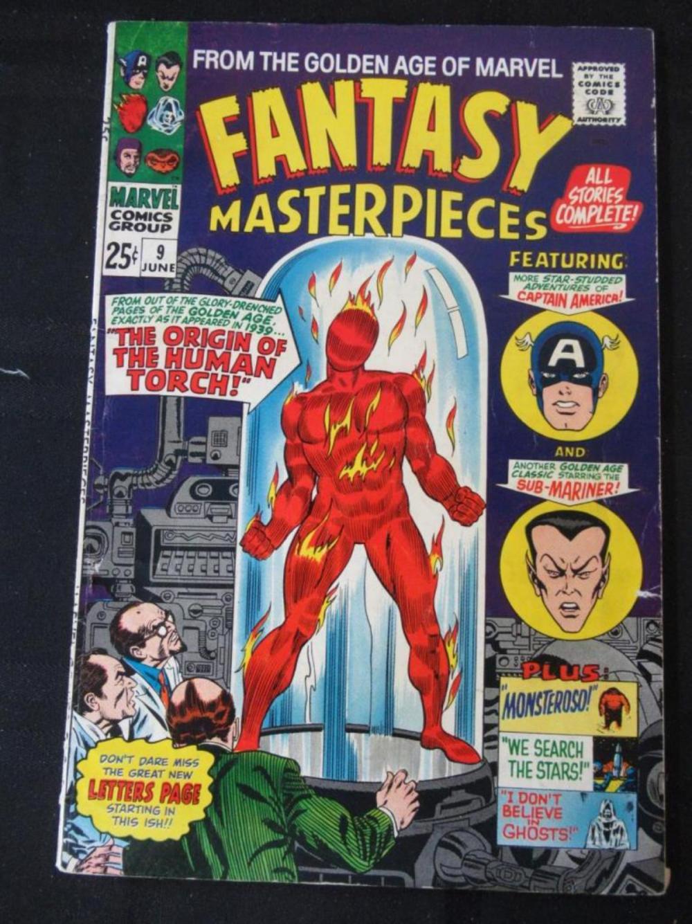 Fantasy Masterpieces 25c #9 Origin Human Torch