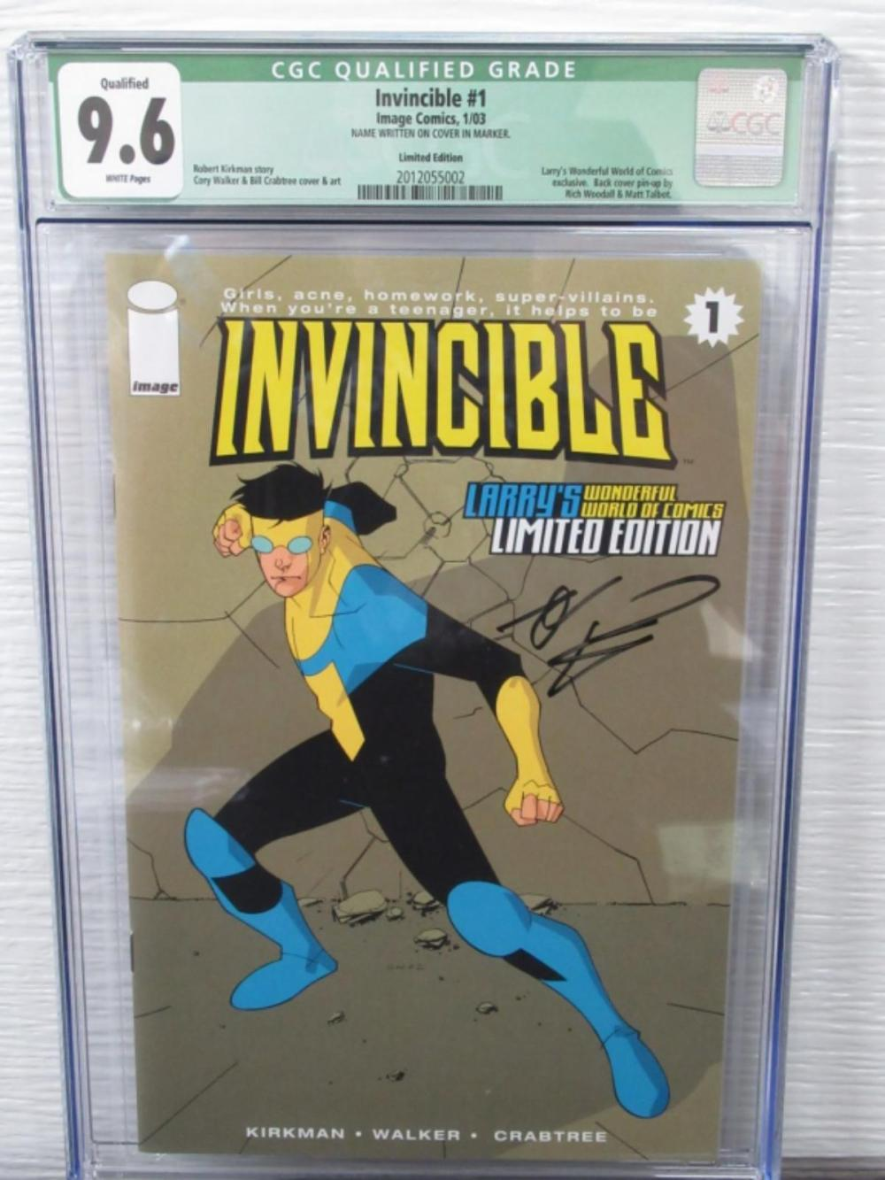 Lot 199: Invincible #1 CGC 9.6 Larry's WWC Exclusive