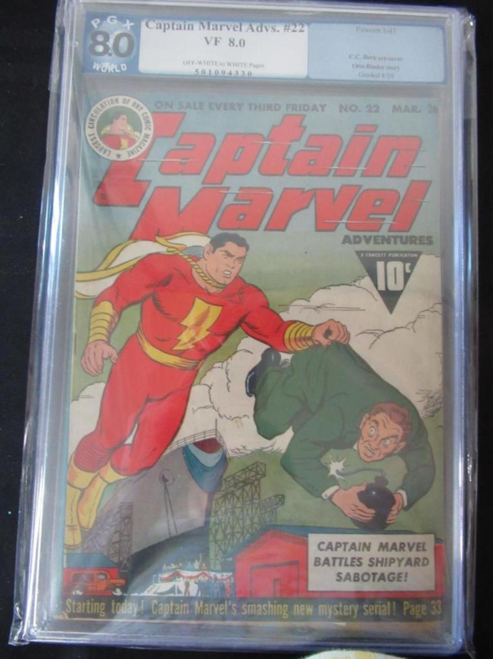 Lot 206: Captain Marvel Adventures #22 PGX 8.0 Otto Binder