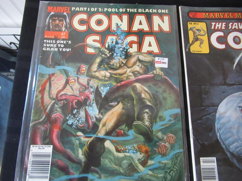 Lot 221: 4 The Savage Sword of Conan & Conan Saga