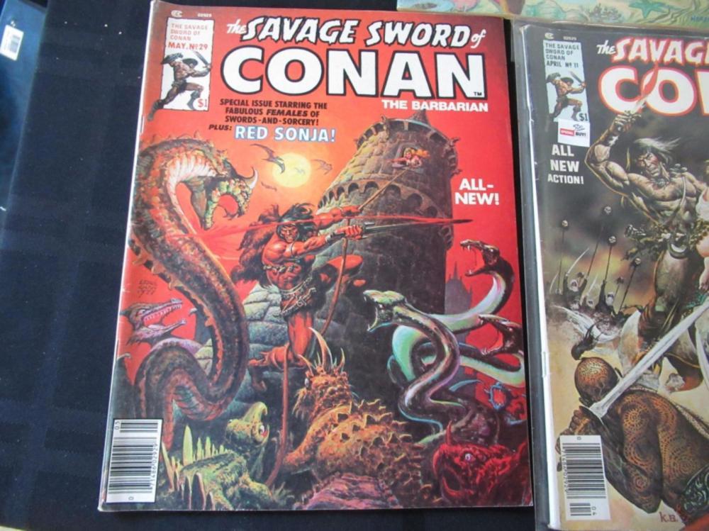 Lot 222: 5 The Savage Sword of Conan Large Comics