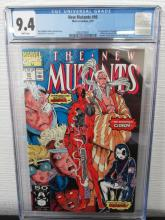 Lot 235: New Mutants #98 CGC 9.4 1st Deadpool, Gideon,