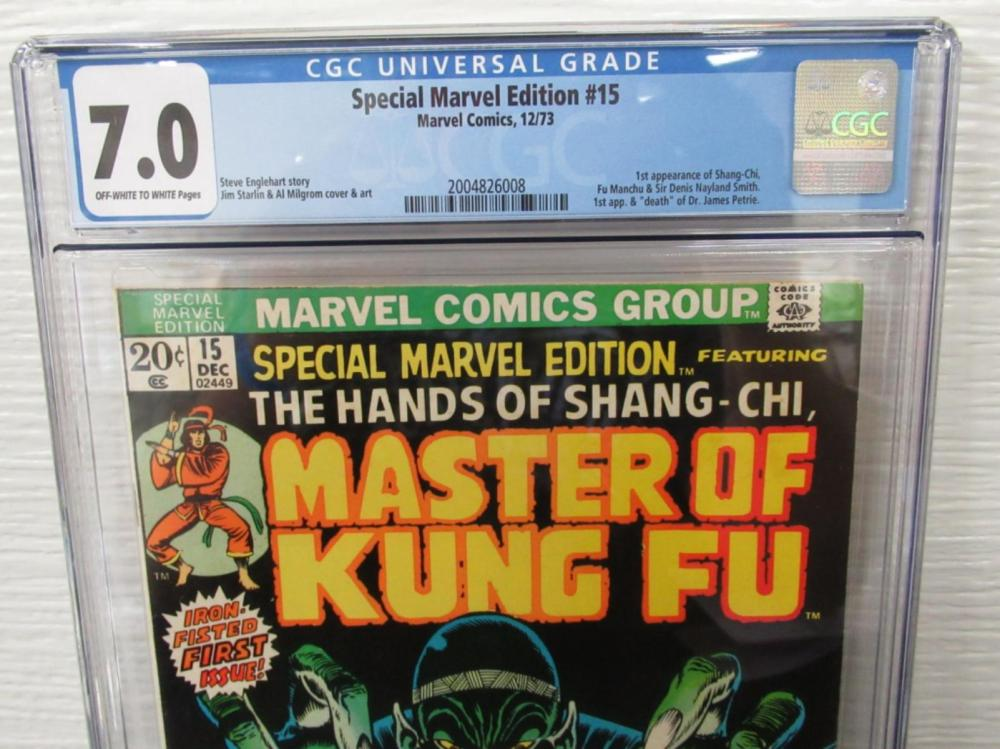 Lot 242: Special Marvel Edition #15 CGC 7.0 1st Shang-Chi
