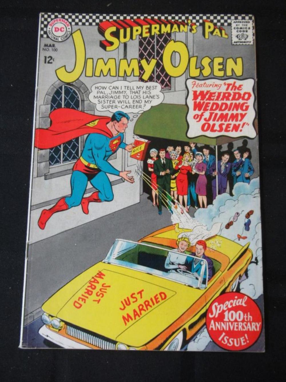 Lot 248: Jimmy Olsen 12c #100 Weird Wedding