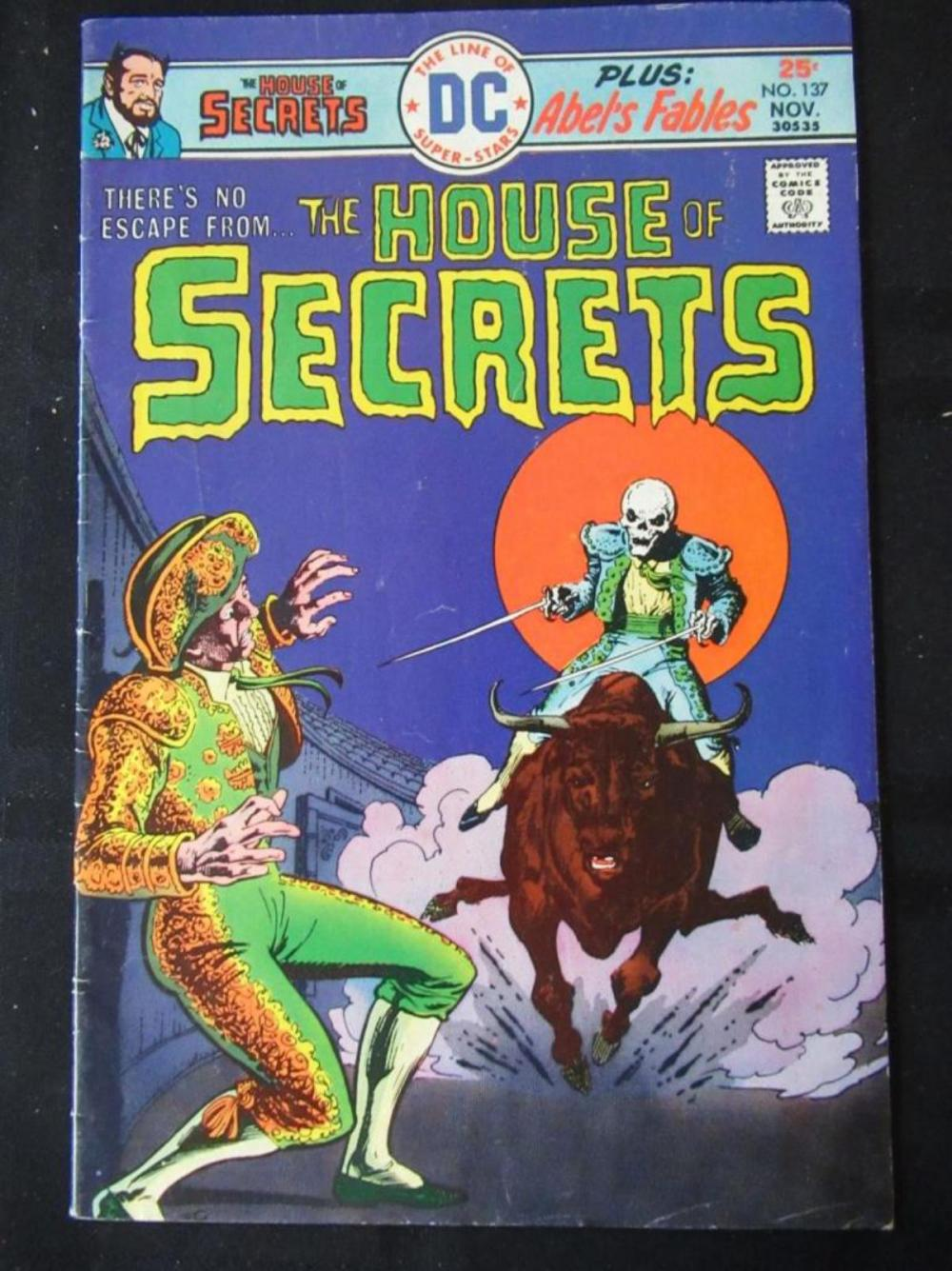 Lot 249: The House of Secrets 25c #137