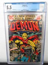 Lot 255: Demon #1 CGC 5.5 origina & 1st The Demon and Randu