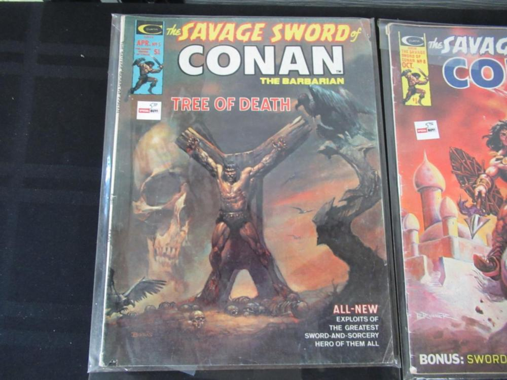 Lot 262: 4 The Savage Sword of Conan Large Comics