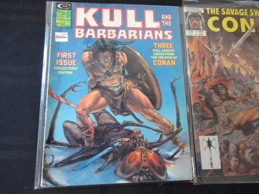 Lot 264: Conan Saga, Savage Conan, Kull Large Comics