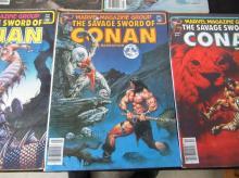Lot 263: 5 The Savage Sword of Conan Large Comics