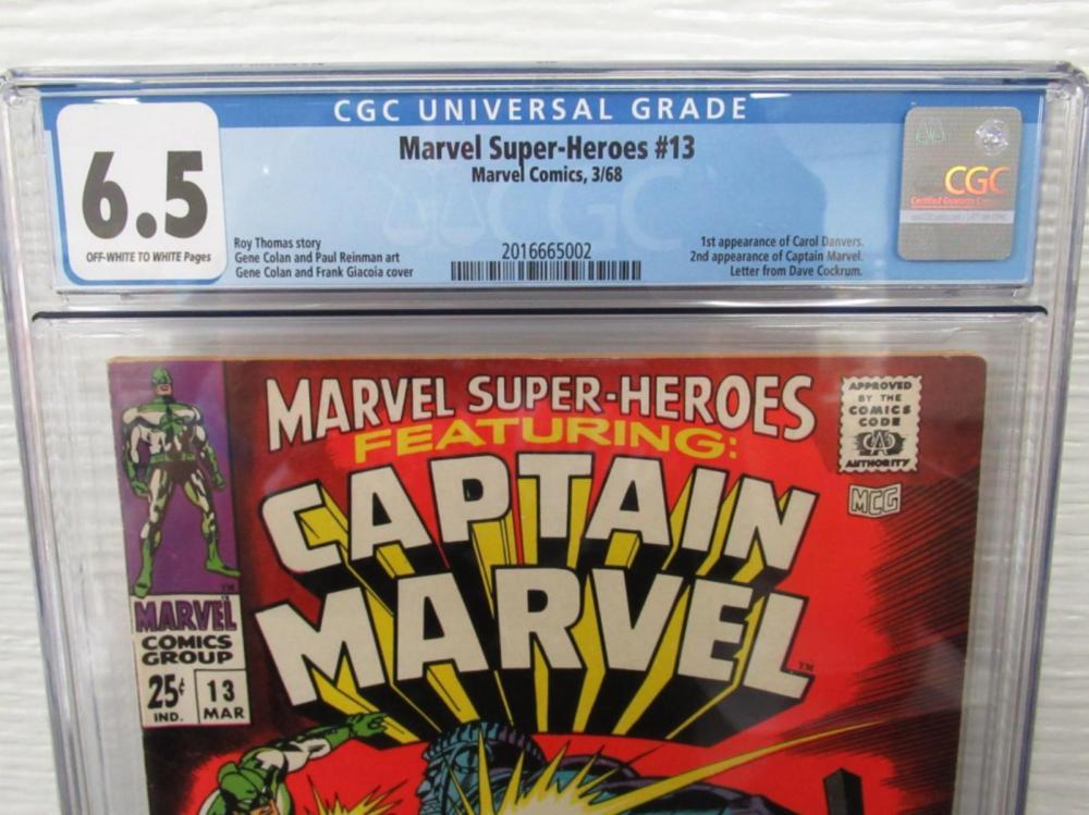 Lot 266: Marvel Super-Heroes #13 CGC 6.5 1st Carol Danvers