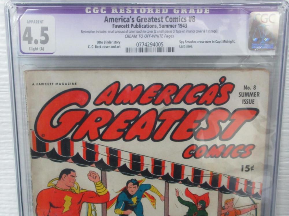 Lot 282: America's Greatest Comics #8 CGC 4.5 Last Issue