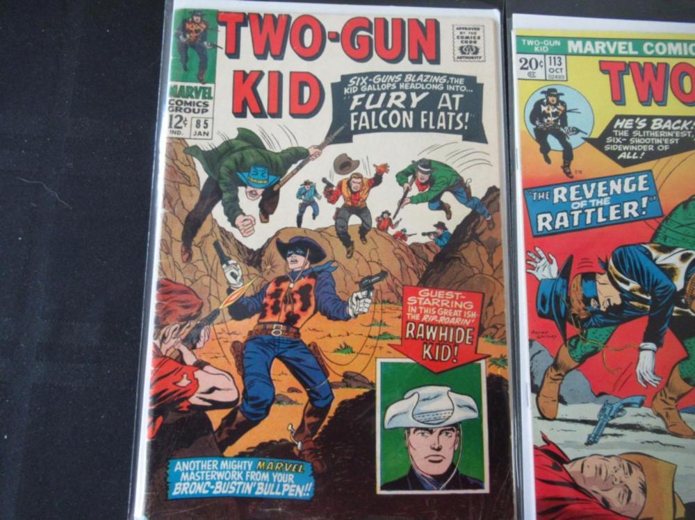 Lot 290: 2 Two-Gun Kid #85 &113