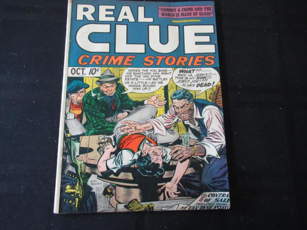 Lot 299: Real Clue Crime Stories 10c 1947 October