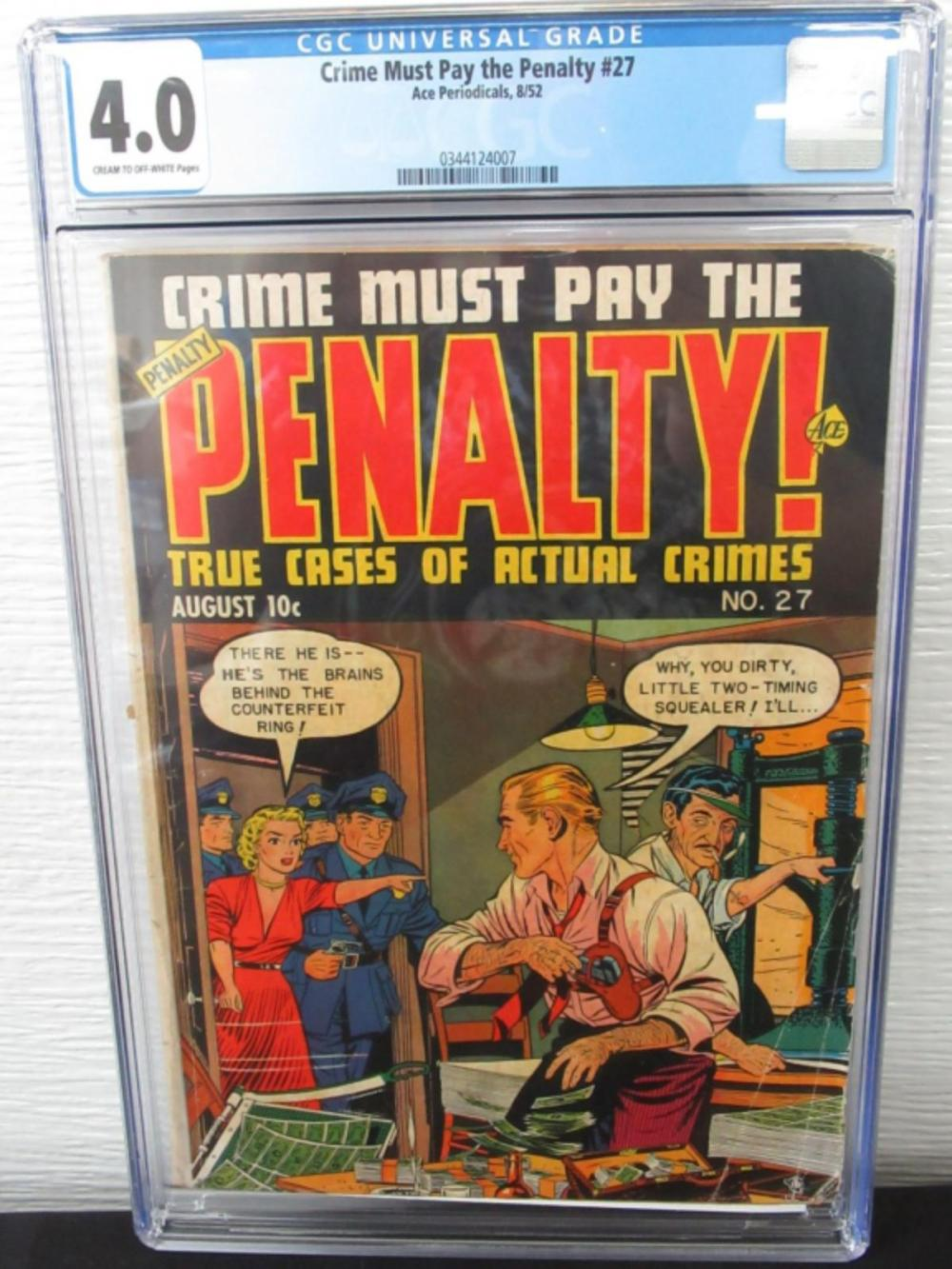 Lot 303: Crime Must Pay the Penalty #27 CGC 4.0