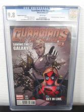 Lot 323: Guardians of the Galaxy #1 CGC 9.8 Variant Cover