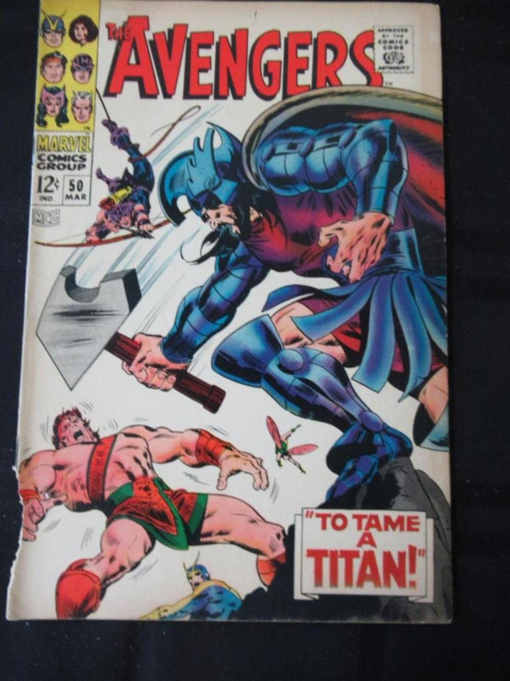 Lot 322: The Avengers 12c #50 To Tame a Titan