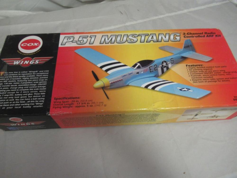 COX P-51 Mustang Airplane 3 Channel Radio Control