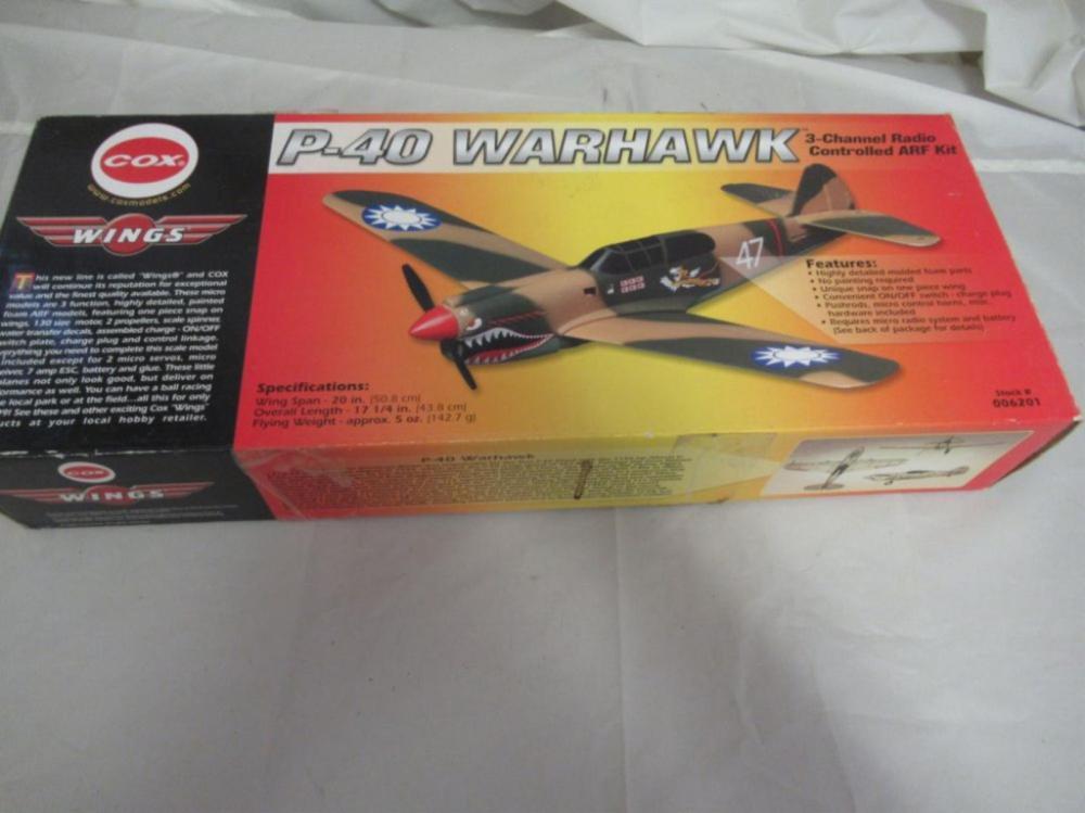 COX P-40 Warhawk Airplane 3 Channel Radio Control