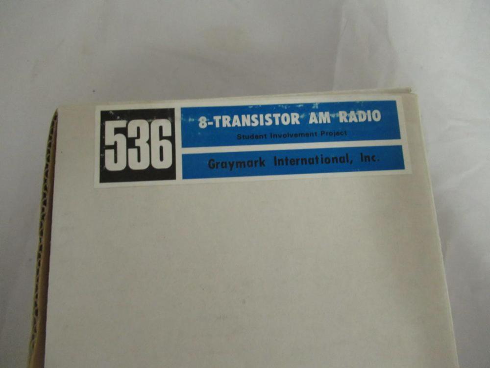 Graymark 536 8-Transistor AM Radio Student Involve