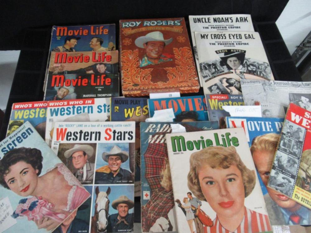 Gene Autry & Roy Rogers Magazine, Book Lot