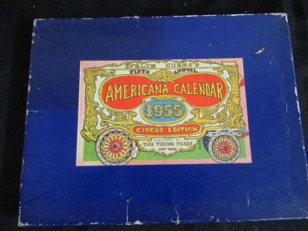 Americana Calendar 1955 Circus Edition 5th Annual