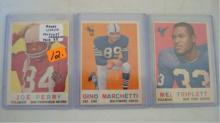 1959 TOPPS 3 Football Star Cards