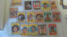 1959 TOPPS 16 Baseball Cards EXMT