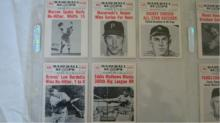 1960 Baseball Scoops 14 Cards EX +
