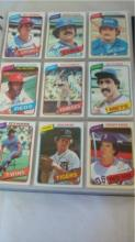 TOPPS 1980 Baseball Cards over 300