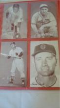 10 Baseball Exhibit Cards 1940-1960