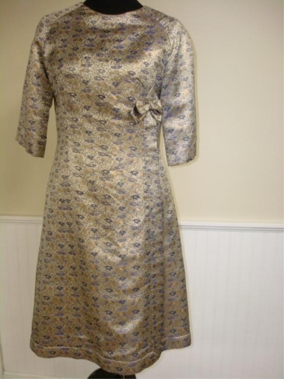 vintage 1960 metallic dress boehm cambridge