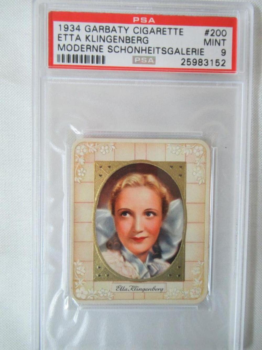 1934 Garbaty Cigarette Etta Klingenberg #200 PSA 9