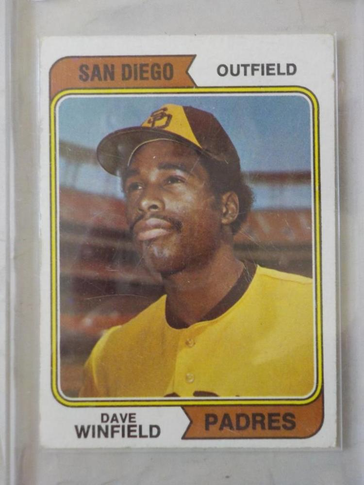 1974 TOPPS Dave Winfield Rookie Baseball Card #456