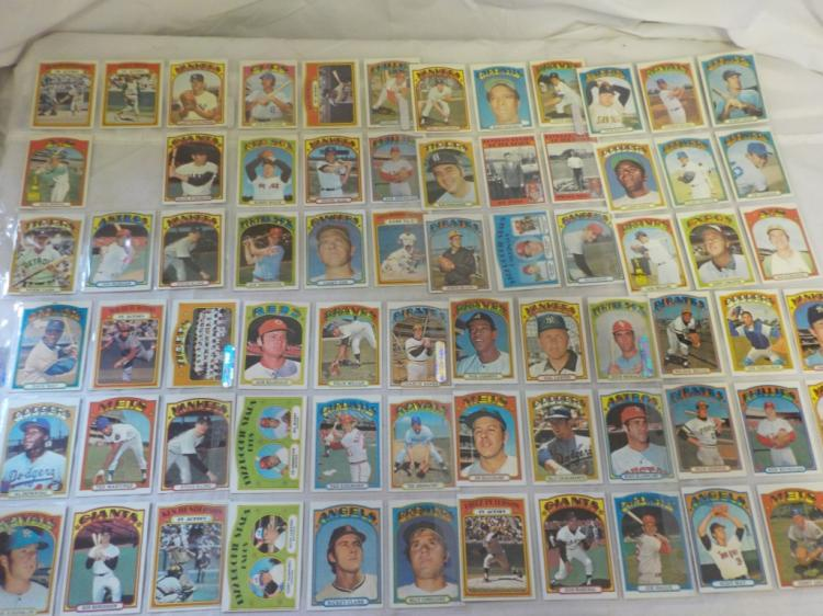 71 1972 TOPPS Baseball Cards a few minor stars
