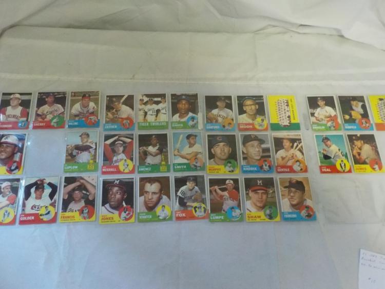 31 1963 TOPPS Baseball Cards EX-NM