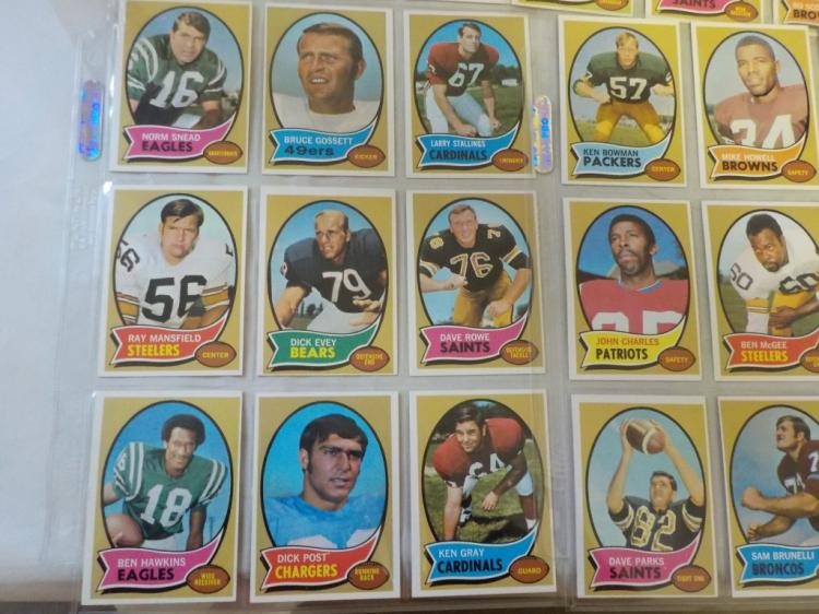 54 1970 TOPPS Football Cards some stars