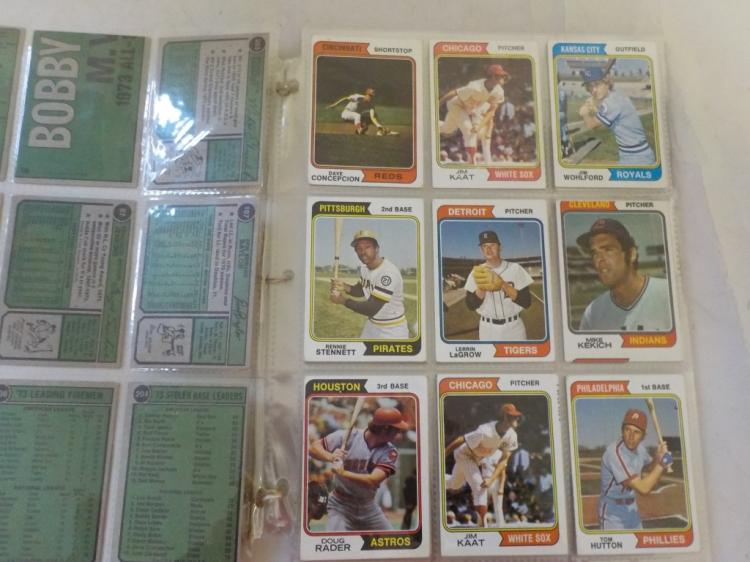 73 1974 TOPPS Baseball Cards with some stars